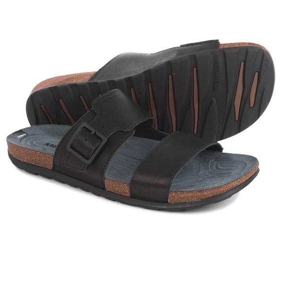 771363d795e1 Merrell Downtown Slide Buckle Flip-Flop Sandals